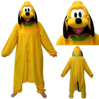 Wholesale New Pluto Dog Kigurumi Cosplay Winter Pyjamas Classic Adult Unisex Sleepwear Christmas Cartoon Anime Jumpsuit For Women WZ
