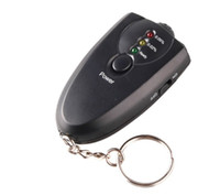Wholesale Hot Sale Accurate breath alcohol tester breathalyzer flashlight H37 black colored LED
