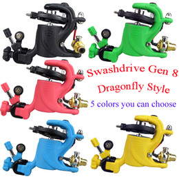 Wholesale Low Price Rotary Tattoo Machine Gun Swashdrive Gen Dragonfly Style Watt Strong Motor M628 colors you can choose