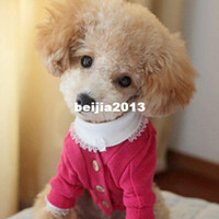 Wholesale Lefdy New Big Small Pet Dog Sweater for Autumn Winter Coats Apparel Personalized Cheap polo Cardigan