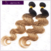 Cheap Hot Sale body wave brazilian hair weft 3.5oz piece 100% ombre hair weave human hair extensions T1b 27 color Free shipping