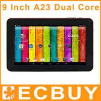 Under $50 9 inch Dual Core Cheap Tablets 9 inch A23 Dual Core Tablet PC Android 4.2 Allwinner A23 512M 8GB 1.5GHz WiFi Dual Camera Bluetooth Discount Tablets PC 30pcs