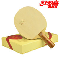 Wholesale Authentic DHS red collection limited edition layer of pure wood table tennis table tennis racquet floor slab