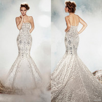 Wholesale bling silver wedding dress buy cheap bling for Bling corset mermaid wedding dresses