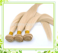 Cheap RCNB014 hair extensions Brazilian human hair weaving weft 100g one pc per pack Color 613# Light Blond Straight Hair