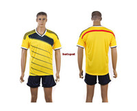 Wholesale New Colombia Soccer Jersey Yellow The Columbia World Cup Mens Jerseys Brand Players Sportswear World Cup blank jerseys