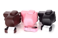 Wholesale A Style PU Leather Camera Case Bag Protector Shoulder Strap For Samsung NX1000 NX1100 Camera E5063