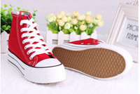 Wholesale 2014 Hot selling men s lady canvas shoes can mix color top quality