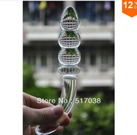 Wholesale Sheer Machete Pyrex glass Crystal dildo penis Anal beads Butt plug Female Masturbation Sex toys for women men Adult products