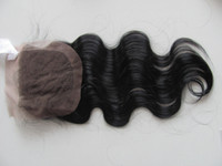 Wholesale Silky closure hair virgin Brazilian body wave