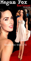 Cheap ED246 Megan Fox Red Carpet inspired chiffon beaded mini off the shoulder celebrity dress prom