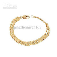 Wholesale THICK HEAVY MENS CHAIN K YELLOW GOLD BRACELET