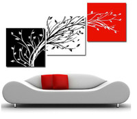 Classical No No 3 Panels Modern Living Room dedroom Wall Hanging Art Abstract Painting Canvas , Tree picture Free Shipping