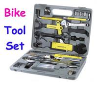 Wholesale DHL OR Fedex ROSWHEEL Bike Bicycle Repairing Tool Set Kit Case Box Universal for Mountain Road Bicycle in