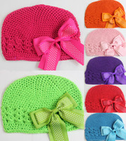 Wholesale Details about Baby GIRL Crochet Kufi Hat Cap Beanie Baby Toddler Girl clip style CN