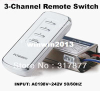 Cheap Wholesale - 3-Channel Wireless Remote Control Power Lamp Light Switch(INPUT:AC198V~242V)
