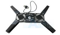 Cheap black fan pad Best Double Fans Plastic laptop radiator