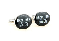 Wholesale 2014 men s jewelry cuff links for mens cufflinks for wedding round brother of the bride