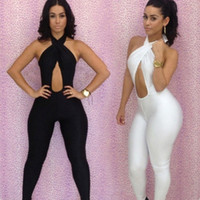 Cheap 2013 Newest! Sexy Clubwear, Women's Party Evening Bandage Bodysuit, Sexy Jumpsuit For Ladies Size S M L
