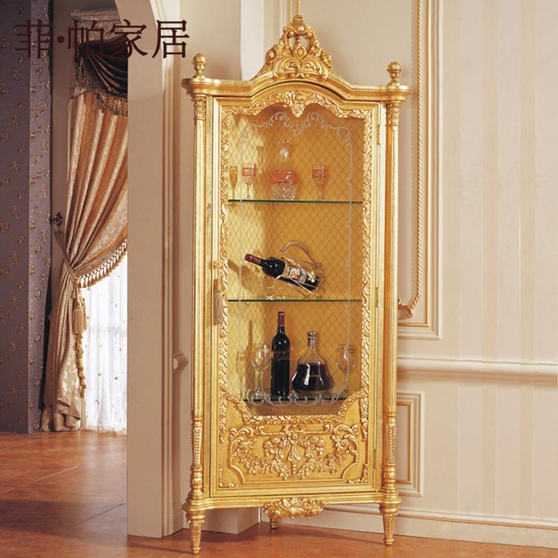 European Style Wooden Furniture   Solid Wood Hand Carved Leaf Gilding Royal  Cellaret Wooden Furniture Hand Carved Furniture Solid Wood Furniture Online  With ...