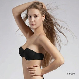 Wholesale In Stock Cheap Reusable Silicone Nude Black Strapless Backless Invisible Bra Cup A and B Bridal Undergarments Accessories