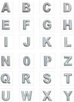 Wholesale mm A Z Chrome Slide letters DIY Charm Accessories