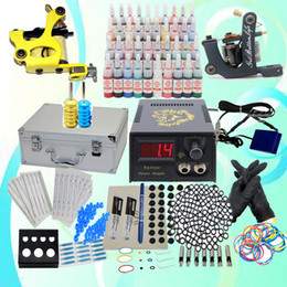 Wholesale USA Dispatch Complete New Tattoo Starter Kits Machines Guns inks Supply Sets Equipment USA warehouse WSK302