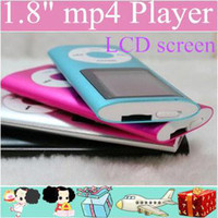 Wholesale DHL inch Screen th mp3 mp4 Player with card slot FM radio Voice Recorder colors