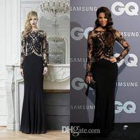 Cheap Lace Evening Dress Best neckline long