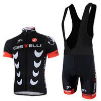Wholesale 2014 popular style coolest bike wear Castelli short sleeve and cycling bib short cycling Clothes irish cycling jersey
