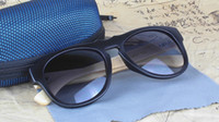 Wholesale New Wood Sunglasses Black Vintage Sun Glasses For Womens And Mens Plastic Frame Bamboo Temples