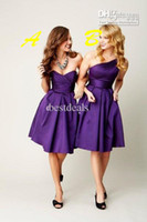 Hot Sales bridesmaid dresses Cheap Sexy Sweetheart Purple Sa...