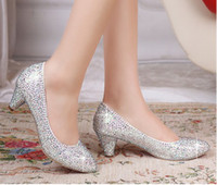 Women Pumps Stiletto Heel Free shipping- 2014 New Diamond Wedding the bride marry crystal bridesmaid party shoes shoes in PROM dress shoes