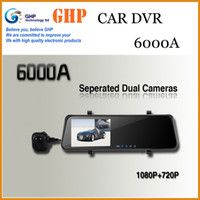 "Cheap Original Free Shipping!!New Car DVR Mirror Rear View Camera Dual Lens With External Rearview Camera Mirror Video Recorder 4.3"" G-Sensor 6000"