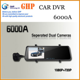 Wholesale Original New Car DVR Mirror Rear View Camera Dual Lens With External Rearview Camera Mirror Video Recorder quot G Sensor