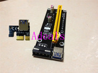 Wholesale PCI E Express PCI E x to x Riser Extender Adapter Card with cm USB Cable power for bitcoin