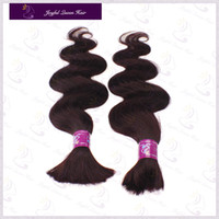 Wholesale 2014 New J red wine burgundy Human Hair bulk for braiding Body Wave brazilian Virgin Hair bulk