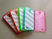 Cheap New Sublimation blank case cover skin for Samsung Galaxy S4 I9500 with plate+glue DHL Fedex Free shipping 200pcs