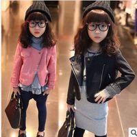 Girl autumn crafts - New Arrival Kids Coat Autumn Girl Coat Quilting Seam Craft Lapel Foreign Trade Children Short Jackets