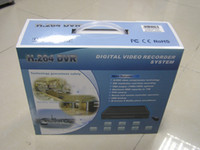 Wholesale Free DHL EMS Security CCTV H Economical CH DVR with CH BNC Video Input with CH BNC video Output CH VGA Support mobile phone view