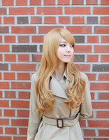 Wholesale New Women s Long Lace Front Hair Wigs Blonde Curly Synthetic Wig Extension SY8078