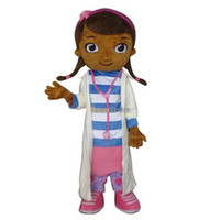Wholesale Fancytrader Deluxe EVA Head Dottie McStuffins Doc McStuffins Mascot Costume Same as Pictured with helmet and mini fan FT30532
