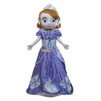 Mascot Costumes Unisex Costum Made 2013 New Free Shipping Deluxe Sofia the First Mascot Costume, Sofia Mascot Costume 100% Real Pictures! with helmet and mini fan FT30602