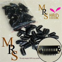 Wholesale 100pcs Black cm hair snap wigs clips for machine wefted weaving extensions medium professional salon accessories brown blonde