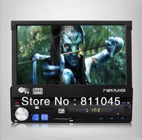 Cheap 12V 1 Din Car mp4 mp5 Player Stereo Vedio FM transmitter Car Audio Radio 2014 New 7' HD Retractable Screen Support rear camera