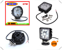 Wholesale Fedex High power W LED work light LED X4 Square and round shape offroad fog driving light ATV SUV UTV WD LED lighting
