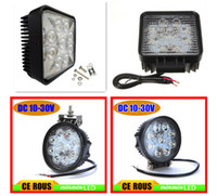 Wholesale Hot sale W Worklight LED Lumin lm Aluminium alloy Square and Round shape Work Light Fog Light for Jeep SUV ATV Off road Truck