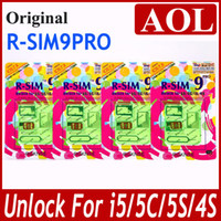 Wholesale Fashion R SIM RSIM9 R SIM9 PRO Unlock for iphone s c g s IOS X GSM CDMA WCDMA japan Domoco Sprint Verizon UK T mobile