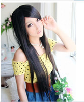 Wholesale Fashion Women s Long black brown Straight Curly Hair Lace Front Synthetic Wigs Y007