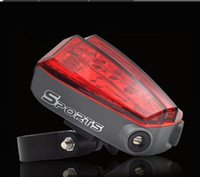 Wholesale Cycling Bike Bicycle Laser Beam LED Rear Tail Light Modes Lamp Battery